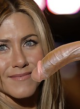 Usually Jennifer Aniston loves to suck big cocks but don't forget about her fantastic ass!