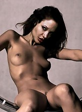 For all of her fans Angelina Jolie not only posing nude but also having some fun with hard cocks!